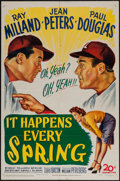 "Movie Posters:Sports, It Happens Every Spring (20th Century Fox, 1949). One Sheet (27"" X 41""). Sports.. ..."