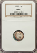 Barber Dimes: , 1895 10C MS61 NGC. NGC Census: (6/75). PCGS Population (2/86).Mintage: 690,000. Numismedia Wsl. Price for problem free NGC...