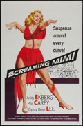 "Movie Posters:Film Noir, Screaming Mimi (Columbia, 1958). One Sheet (27"" X 41""). Film Noir.. ..."