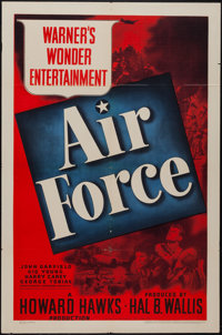 "Air Force (Warner Brothers, 1943). One Sheet (27"" X 41""). War"