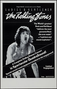 """Ladies and Gentlemen: The Rolling Stones (Dragon Aire, 1973). One Sheet (24.5"""" X 38"""") Flat Folded, QuadraSound..."""