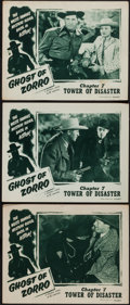 "Movie Posters:Serial, Ghost of Zorro (Republic, 1949). Lobby Cards (3) (11"" X 14"")Chapter 7 -- ""Tower of Disaster."" Serial.. ... (Total: 3 Items)"