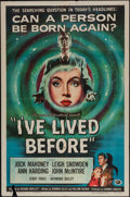 """Movie Posters:Fantasy, I've Lived Before (Universal International, 1956). One Sheet (27"""" X41"""") & Lobby Card Set of 8 (11"""" X 14""""). Fantasy.. ... (Total: 9Items)"""