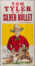 "Movie Posters:Western, The Silver Bullet (Screencraft, R-1930s). Stock Three Sheet (40.5"" X 79.75""). Western.. ..."