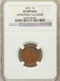 Indian Cents: , 1872 1C -- Improperly Cleaned -- NGC Details. XF. NGC Census:(37/402). PCGS Population (95/434). Mintage: 4,042,000. Numis...