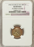 Lincoln Cents, 1955 1C Doubled Die Obverse -- Altered Color -- NGC Details. AU.FS-101....