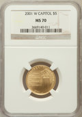 Modern Issues, 2001-W $5 Capitol Visitor's Center Gold Five Dollar MS70 NGC....