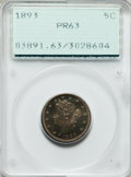 Proof Liberty Nickels: , 1893 5C PR63 PCGS. PCGS Population (98/307). NGC Census: (45/272).Mintage: 2,195. Numismedia Wsl. Price for problem free N...