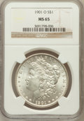 Morgan Dollars: , 1901-O $1 MS65 NGC. NGC Census: (4593/452). PCGS Population(2659/470). Mintage: 13,320,000. Numismedia Wsl. Price for prob...