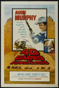 """Movie Posters:Western, 40 Guns to Apache Pass (Columbia, 1967). One Sheet (27"""" X 41""""). Western. Starring Audie Murphy, Michael Burns, Kenneth Tobey..."""