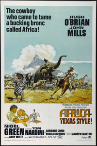 """Africa - Texas Style! (Paramount, 1967). One Sheet (27"""" X 41""""). Adventure. Directed by Andrew Marton. Starring..."""