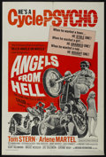 """Movie Posters:Action, Angels from Hell (American International, 1968). One Sheet (27"""" X 41""""). Action. Starring Tom Stern, Arlene Martel, Ted Markl..."""