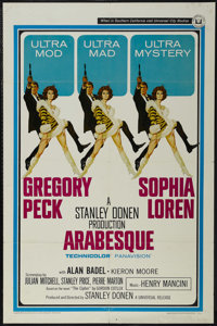 """Arabesque (Universal, 1966). One Sheet (27"""" X 41""""). Thriller. Directed by Stanley Donen. Starring Gregory Peck..."""