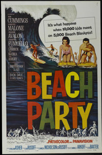 "Beach Party (American International, 1963). One Sheet (27"" X 41""). Comedy. Starring Robert Cummings, Dorothy M..."