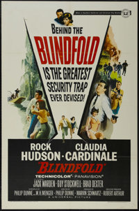 """Blindfold (Universal, 1966). One Sheet (27"""" X 41""""). Action. Directed by Philip Dunne. Starring Rock Hudson, Cl..."""