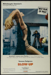 """Blow-Up (MGM, 1967). One Sheet (27"""" X 41""""). Mystery. Directed by Michelangelo Antonioni. Starring David Hemmin..."""
