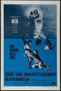 """Blue (Paramount, 1968). One Sheet (27"""" X 41""""). Western. Starring Terence Stamp, Joanna Pettet, Karl Malden and..."""