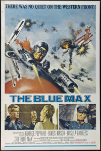"""The Blue Max (20th Century Fox, 1966). One Sheet (27"""" X 41""""). War. Directed by John Guillermin. Starring Georg..."""