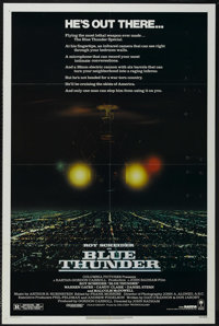 """Blue Thunder (Columbia, 1983). One Sheet (27"""" X 41""""). Action. Directed by John Badham. Starring Roy Scheider..."""