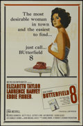 """Movie Posters:Drama, Butterfield 8 (MGM, 1960). One Sheet (27"""" X 41""""). Drama. Directed by Daniel Mann. Starring Elizabeth Taylor, Laurence Harvey..."""