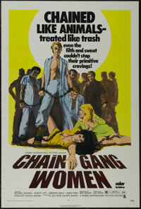 """Chain Gang Women (Crown-International, 1971). One Sheet (27"""" X 41""""). Crime. Directed by Lee Frost. Starring Mi..."""