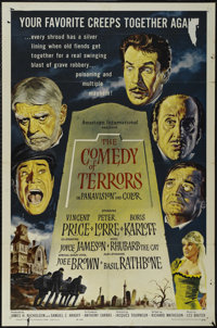 """The Comedy of Terrors (American International, 1964). One Sheet (27"""" X 41""""). Horror Comedy. Directed by Jacque..."""