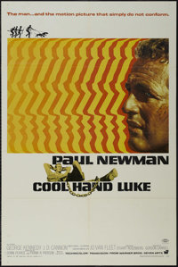 "Cool Hand Luke (Warner Brothers, 1967). One Sheet (27"" X 41""). Drama. Directed by Stuart Rosenberg. Starring P..."