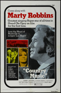 """Country Music (Universal, 1972). One Sheet (27"""" X 41""""). Musical. Starring Marty Robbins, Dottie West, Barbara..."""