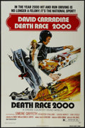 "Movie Posters:Science Fiction, Death Race 2000 (New World Pictures, 1975). One Sheet (27"" X 41"").Sci-Fi Action. Starring David Carradine, Simone Griffeth,..."