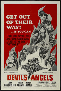 """Devil's Angels (American International, 1967). One Sheet (27"""" X 41""""). Action. Directed by Daniel Haller. Starr..."""