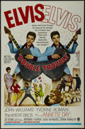 """Movie Posters:Elvis Presley, Double Trouble (MGM, 1967). One Sheet (27"""" X 41""""). Rock Musical.Directed by Norman Taurog. Starring Elvis Presley, John Wil..."""