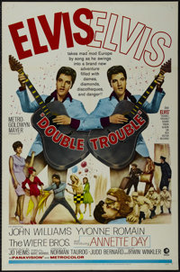 """Double Trouble (MGM, 1967). One Sheet (27"""" X 41""""). Rock Musical. Directed by Norman Taurog. Starring Elvis Pre..."""