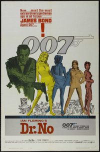 "Dr. No (United Artists, 1962). One Sheet (27"" X 41""). Action. Starring Sean Connery, Ursula Andress, Joseph Wi..."