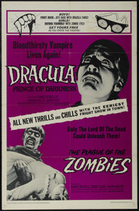 """Dracula, Prince of Darkness/The Plague of the Zombies Combo (20th Century Fox, 1966). One Sheet (27"""" X 41""""). H..."""