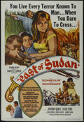 "Movie Posters:Adventure, East of Sudan (Columbia, 1964). One Sheet (27"" X 41""). Action.Directed by Nathan Juran. Starring Anthony Quayle, Sylvia Sim..."
