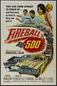 """Fireball 500 (AIP, 1966). One Sheet (27"""" X 41""""). Comedy. Starring Frankie Avalon, Annette Funicello, Fabian an..."""