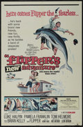 "Movie Posters:Adventure, Flipper's New Adventure (MGM, 1964). One Sheet (27"" X 41""). Family.Starring Luke Halpin, Pamela Franklin, Helen Cherry and ..."