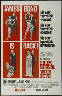 """From Russia With Love (United Artists, 1963). One Sheet (27"""" X 41""""). Action. Starring Sean Connery, Desmond Ll..."""