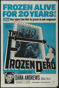"""Movie Posters:Science Fiction, The Frozen Dead (Warner Brothers-Seven Arts, 1966). One Sheet (27"""" X 41""""). Horror. Starring Dana Andrews, Anna Palk, Philip ..."""
