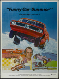 "Funny Car Summer (Ambassador Pictures, 1974). Poster (30"" X 40""). Adventure. Directed by Ron Phillips. Starrin..."