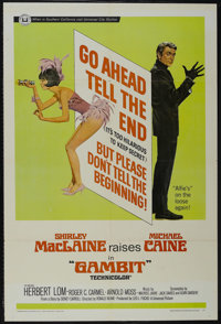 "Gambit (Universal, 1966). One Sheet (27"" X 41""). Crime. Directed by Ronald Neame. Starring Shirley MacLaine, M..."