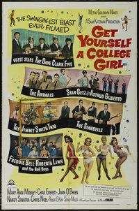 """Get Yourself a College Girl (MGM, 1964). One Sheet (27"""" X 41""""). Rock Musical. Directed by Sidney Miller. Starr..."""