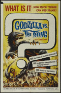 "Movie Posters:Action, Godzilla vs. the Thing (American International, 1964). One Sheet(27"" X 41""). Science Fiction. Directed by Ishiro Honda. Sta..."