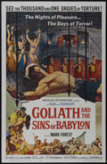 "Movie Posters:Adventure, Goliath and the Sins of Babylon (American International, 1964). OneSheet (27"" X 41""). Action Adventure. Directed by Michele..."