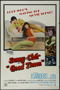 """Good Times (Columbia, 1967). One Sheet (27"""" X 41""""). Comedy. Starring Sonny and Cher, George Sanders, Norman Al..."""