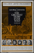 """Movie Posters:Drama, The Greatest Story Ever Told (United Artists, 1965). One Sheet (27"""" X 41""""). Religious Epic. Directed by George Stevens. Star..."""