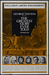 "The Greatest Story Ever Told (United Artists, 1965). One Sheet (27"" X 41""). Religious Epic. Directed by George..."
