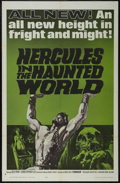 "Movie Posters:Adventure, Hercules in the Haunted World (Woolner Brothers, 1964). One Sheet(27"" X 41""). Adventure. Starring Reg Park, Christopher Lee..."