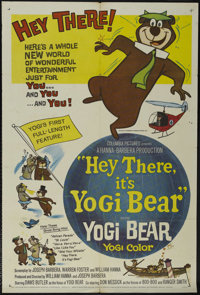 "Hey There, It's Yogi Bear (Hanna-Barbera Productions, 1964). One Sheet (27"" X 41""). Animated. Starring the voi..."
