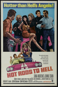 "Hot Rods to Hell (MGM, 1967). One Sheet (27"" X 41""). Thriller. Starring Dana Andrews, Jeanne Crain, Mimsy Farm..."